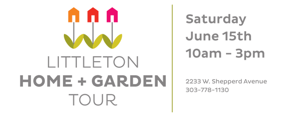 Download the flier for our 2013 Littleton Home & Garden Tour. Saturday, June 15th from 10am to 3pm. $20 per person. Call 303.778.1130 for details