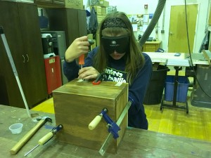 dShelby puts hinges on her wooden box
