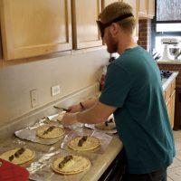 Ryan making Giro wraps for his mini meal