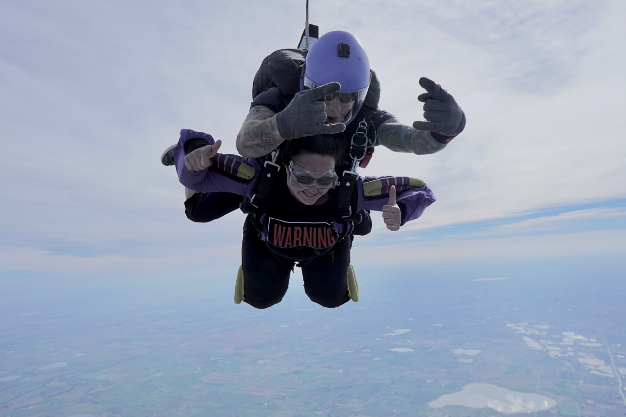 Shout out to our five skydiving students!