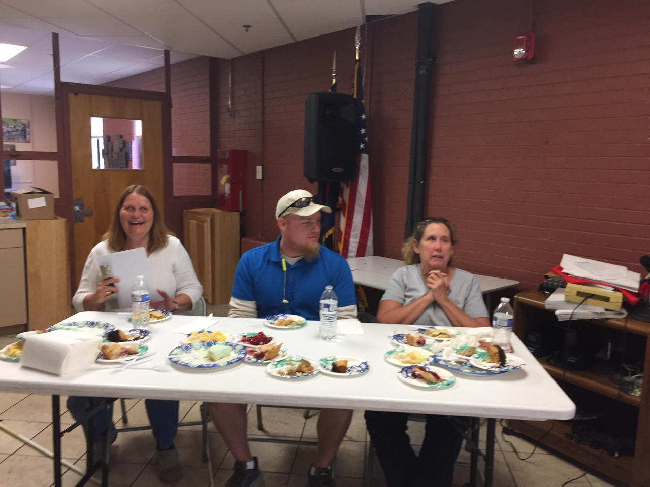 Julie, Daniel and Vicki Judging the pie contest