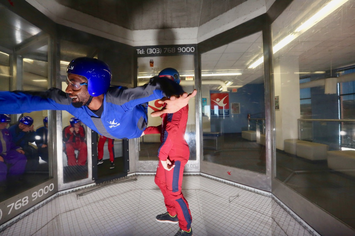 Leon Free Flying the I Fly Denver Wind Tunnel