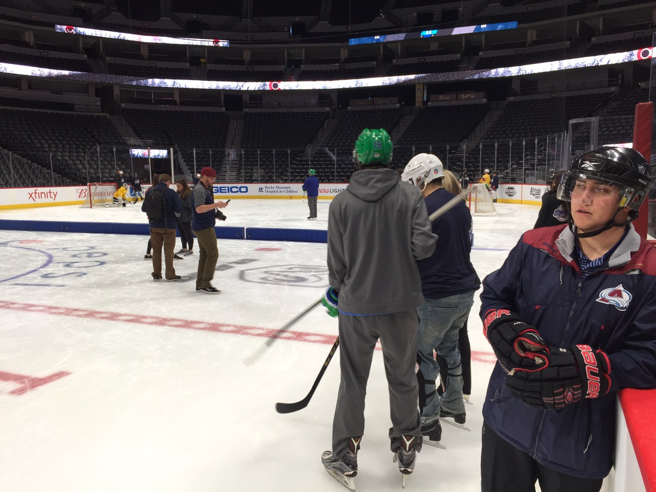 CCB students go out on the ice in their hockey gear