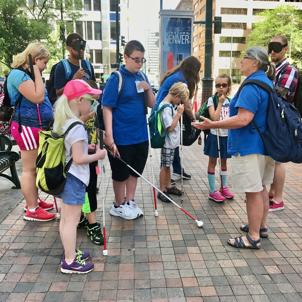 Confidence Camp kids in Downtown Denver