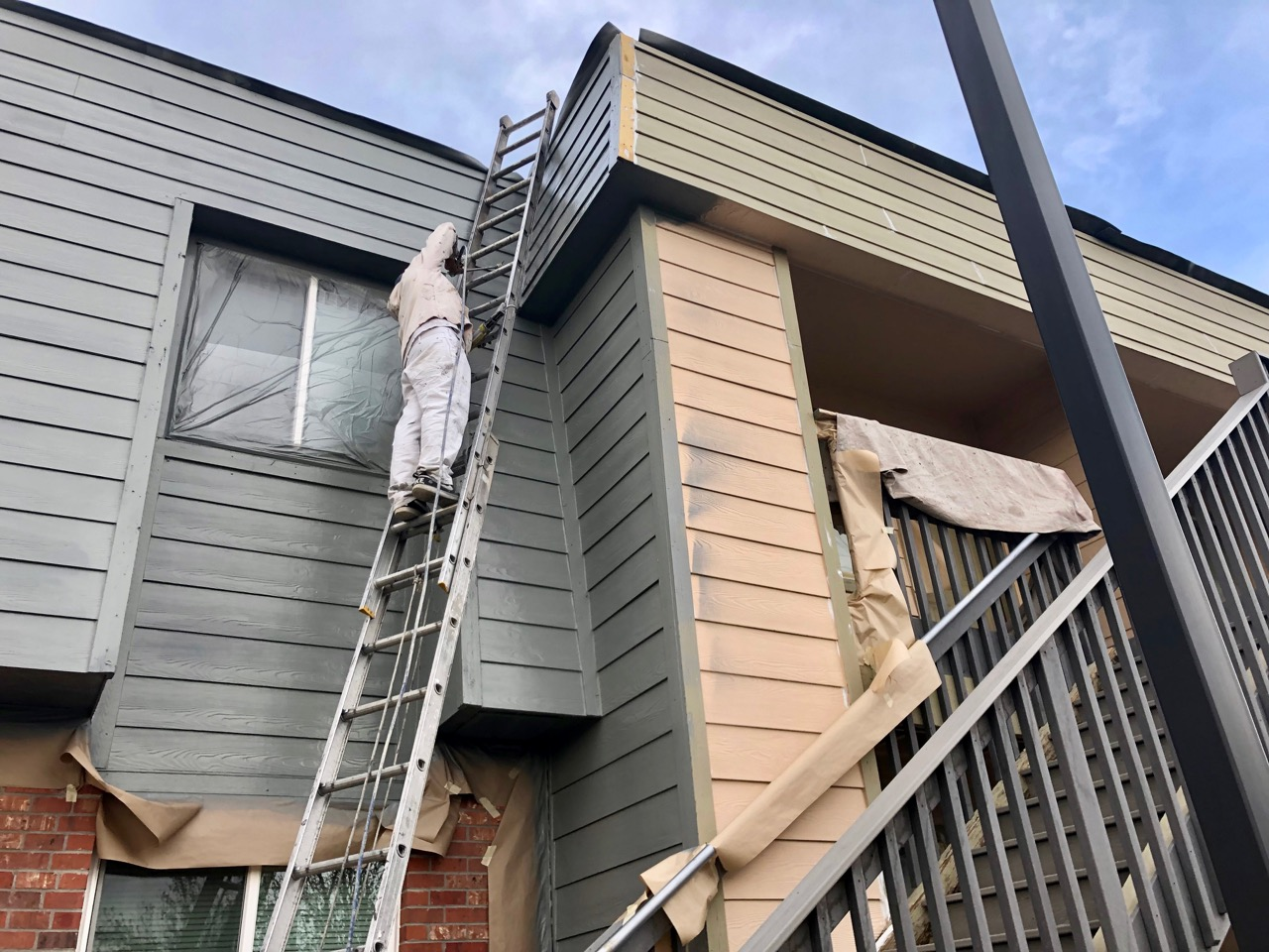 Repainting the trim at McGeorge Mountain Terrace