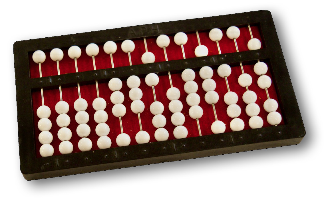 Cranmer Abacus - A specially designed abacus that keeps beads in position once they have been set